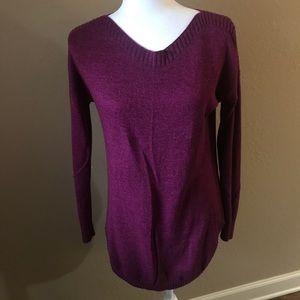 Women's Maroon Knit Boat Neck Sweater- size XS